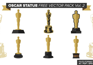 Oscar Statue Free Vector Pack Vol. 2 - Free vector #384541