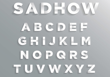 Font with Soft Shadow - vector gratuit #384561