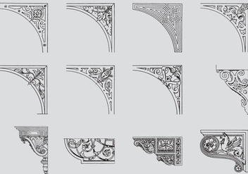 Scrollwork Corners - Free vector #384621