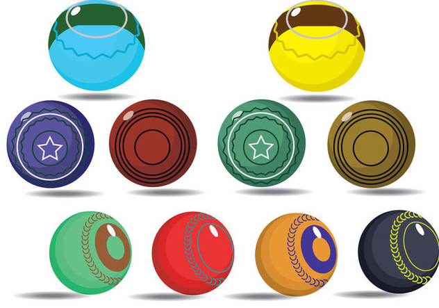 Free Lawn Bowls Icons - Free vector #384691