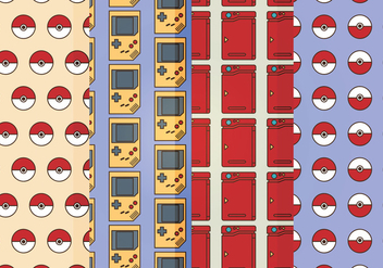 Vector Pokemon Badges Patterns - vector gratuit #384731