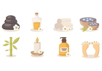 Free Spa Beauty and Health Vector - Kostenloses vector #384831