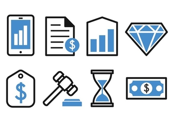 Free Business and Finance Icon Set - vector gratuit #384851