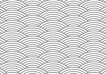 Chainmail / Fishscale Pattern Background - Free vector #384861