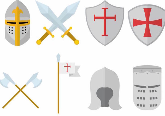 Templar Knight Set - vector #384921 gratis