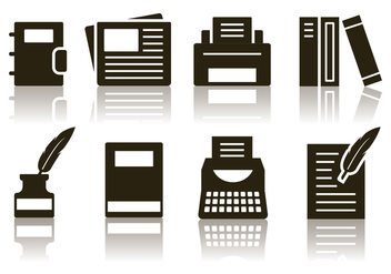 Free Minimalist Writer Icon Set - vector gratuit #384981