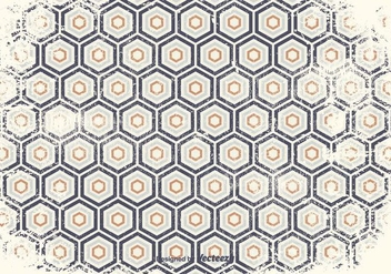 Distressed Geometric Pattern Background - vector gratuit #384991