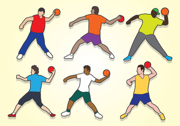Dodge Ball Vector - vector gratuit #385051