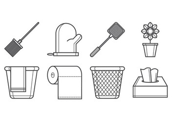 Free Household Tools Icon Vector - vector gratuit #385281