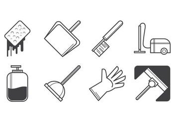 Free Cleaning Icon Vector - Kostenloses vector #385291