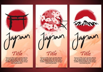 Torii Japan Flayers Template Vector - vector gratuit #385371
