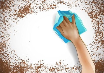 Wipe A Dirty Surface - vector gratuit #385391