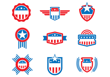Free United States Badges and Seal Vectors - vector #385451 gratis