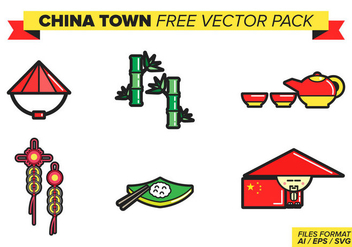 China Town Free Vector Pack - Kostenloses vector #385481