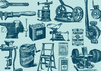Vintage Big Tools - Free vector #385531