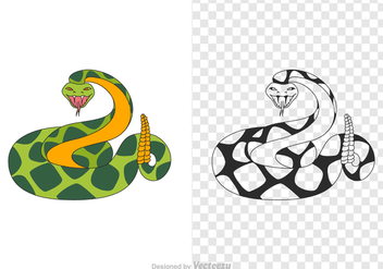 Free Rattlesnake Vector Illustration - Kostenloses vector #385541