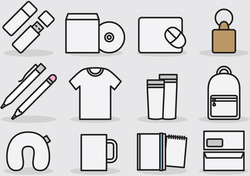 Branding Template Icons - Free vector #385571