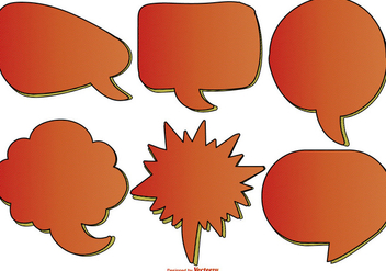 Comic Style Text Bubbles - Free vector #385591