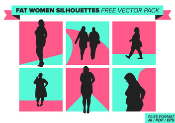 Fat Women Silhouettes Free Vector Pack - Kostenloses vector #385611