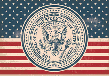 Vintage Presidential Seal Illustration - бесплатный vector #385641