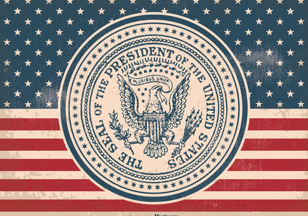 Vintage Presidential Seal Illustration - Free vector #385641