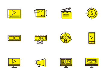 Video Production Icons - Free vector #385681