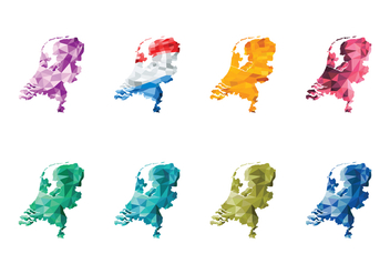 Free Abstract Netherlands Map Vector - vector gratuit #385691