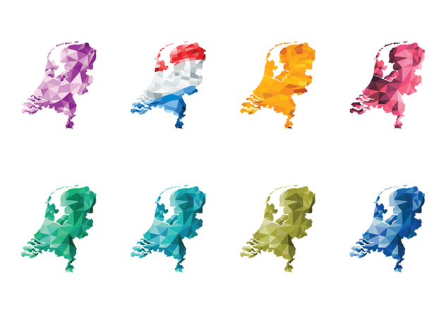 Free Abstract Netherlands Map Vector - бесплатный vector #385691