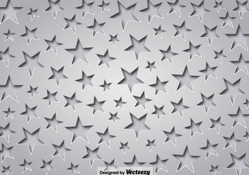 Gray Background With Stars And Shadows - vector gratuit #385701