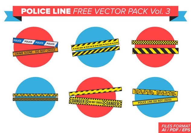 Police Line Free Vector Pack Vol. 3 - Free vector #385731
