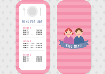 Menu for Kids - vector gratuit #385741