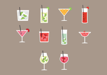 Caipirinha Icon Set - vector #385761 gratis