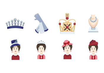 Queen Elizabeth icon - vector #385771 gratis