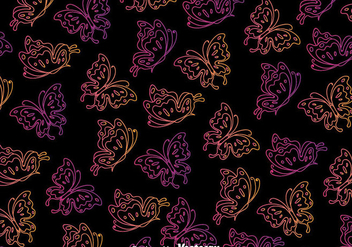 Butterfly Black Seamless Background - Free vector #385841