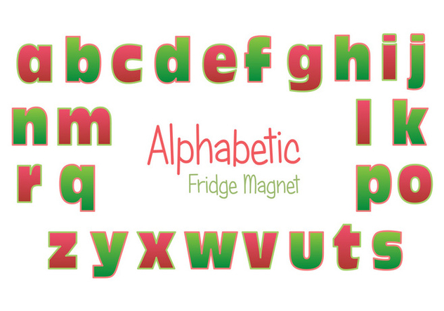 Fridge Magnet Alphabet Vector Set - Free vector #385981