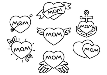 Mom Tattoo Illustration - Free vector #386021