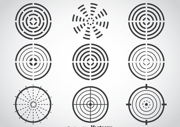 Laser Tag Target Vector Set - Free vector #386031