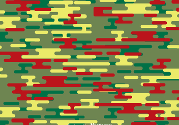 Green And Red Camouflage Pattern - Free vector #386101