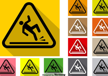 Vector Set Of Wet Floor Icon - Kostenloses vector #386111