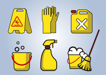 Cleaning Service Tools Vector - Free vector #386171