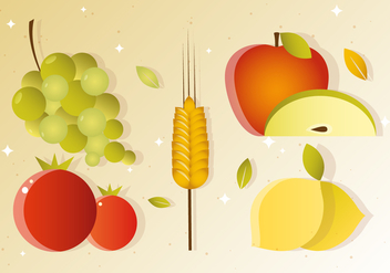 Free Vector Fall Fruit Harvest - бесплатный vector #386181
