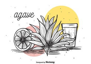 Agave Vector Background - Free vector #386191