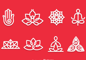 Yoga Meditation Symbol Vector - бесплатный vector #386241