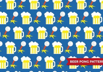 Beer Pong Patter Vector - бесплатный vector #386271