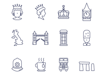 Free British Vector Icon - vector gratuit #386311