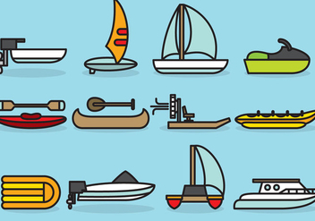 Cute Aquatic Transports - vector gratuit #386361