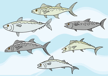 Mackerel Vector - vector #386501 gratis