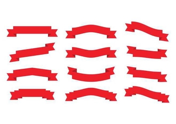 Red Ribbons - vector gratuit #386661