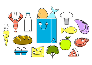 Free Food Icons - vector #386701 gratis