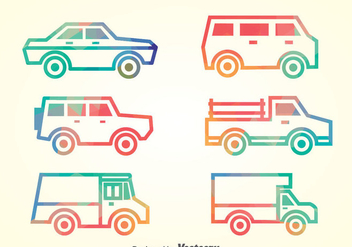 Cars Collection Vector Set - Kostenloses vector #386721